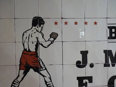 "Mural de Cerámica ""Boxeo Only You"""